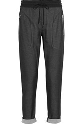 Rag And Bone Christie Cotton Blend Mesh Tapered Pants Black