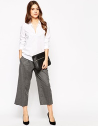 French Connection Serena 3 4 Length Wide Leg Trousers Grey