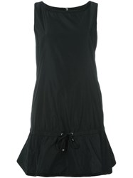 Moncler Flared Drawstring Dress Black