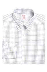 Brooks Brothers Big And Tall Classic Fit Check Dress Shirt Blue