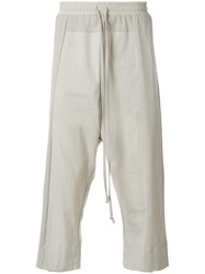 Lost And Found Rooms Cropped Over Pants Cotton Grey