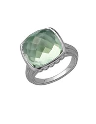 Lord And Taylor Sterling Silver Quartz Doublet Ring Green Quartz Silver
