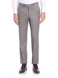 Saks Fifth Avenue Collection Solid Wool Pants Grey