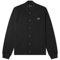 Fred Perry Authentic Bomber Collar Track Jacket Black
