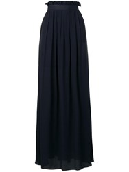 Escada High Rise Skirt Blue