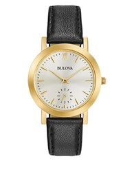 Bulova Classic Leather Strap Watch