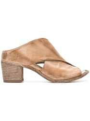 Officine Creative Crossover Strap Mules Nude And Neutrals