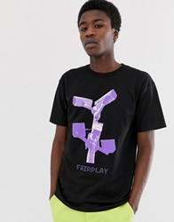 Fairplay Cameras T Shirt With Chest Print In Black