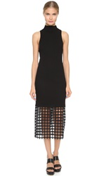 Edun Chain Lace Sleeveless Dress Black