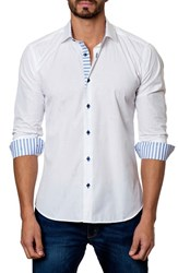 Men's Jared Lang Trim Fit Anchor Jacquard Sport Shirt