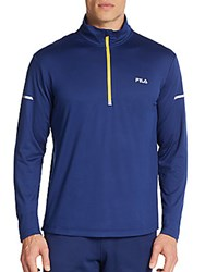 Fila Windrunner Pullover Top Blue Depth