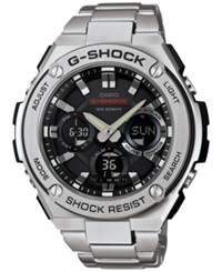 G Shock Men's Analog Digital Stainless Steel Bracelet Watch 52X60mm Gsts110d 1A No Color