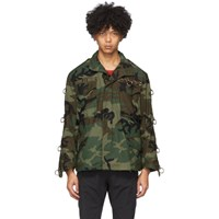 R 13 R13 Green Refurbished Camo Jacket