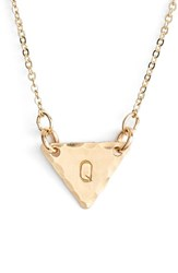 Women's Nashelle 14K Gold Fill Initial Triangle Necklace 14K Gold Fill Q