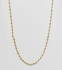 Kingsley Ryan Sterling Silver Gold Plated Twisted Chain Detail Necklace