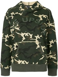 The Upside Camouflage Hoodie Green