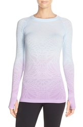 Women's Climawear 'See The Light' Ombre Long Sleeve Tee Vista Blue Lavendula