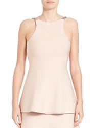 Alexander Wang Chain Detail Peplum Tank Top Blush