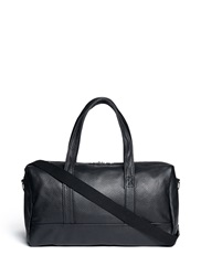 Meilleur Ami Paris 'Bel Ami' Pebbled Leather Duffle Bag Black