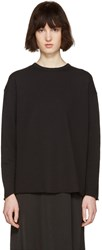 6397 Black Rolled Pullover