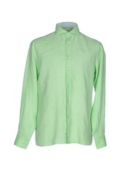 Domenico Tagliente Shirts Light Green