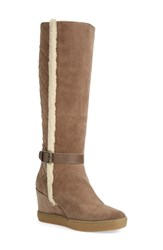 Aquatalia By Marvin K Women's Aquatalia 'Callie' Weatherproof Tall Boot Taupe Suede