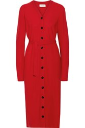Christophe Lemaire Wool Dress Red
