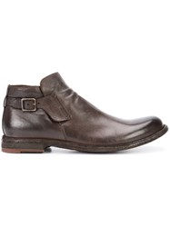 Officine Creative Ideal Boots Men Buffalo Leather Calf Leather 43 Brown