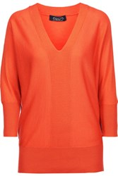 Magaschoni Silk And Cashmere Blend Sweater Bright Orange