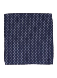 Topman Blue Wood Wood Navy And White Diamond Bandana