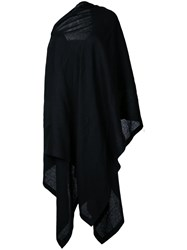 Yohji Yamamoto Off Shoulder Cloak Dress Women Linen Flax 2 Black