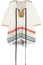 Sonia Rykiel Embroidered Gauze Tunic White