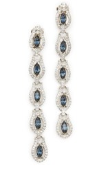 Ben Amun Two Tone Linear Drop Earrings Silver Multi