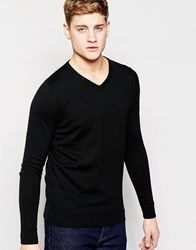 Jack And Jones Jack And Jones Premium V Neck Knitted Jumper Black
