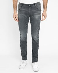 G Star Grey Wash Arc Zip 3D Zip Pockets Slim Fit Jeans