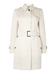 Aquascutum London Franca Single Breasted Raincoat Cream