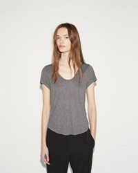 Alexander Wang Scoop Neck Tee Heather Grey