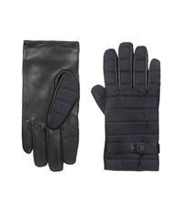 Ted Baker Justfab Fabric And Leather Mix Gloves Navy Extreme Cold Weather Gloves
