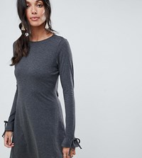 Vero Moda Tall Fluted Sleeve Shift Dress Dark Grey