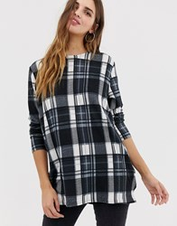 Qed London Check Blouse Multi