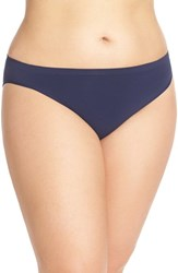 Plus Size Women's Nordstrom Lingerie Seamless High Cut Briefs Navy Peacoat