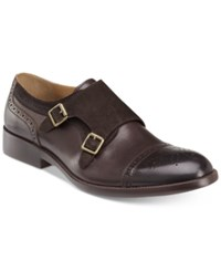 Johnston And Murphy Men's Fletcher Double Buckle Slip On Loafers Men's Shoes Brown