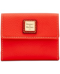 Dooney And Bourke Pebble Small Flap Wallet Salmon