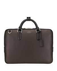 Smythson Burlington Slim Briefcase Brown