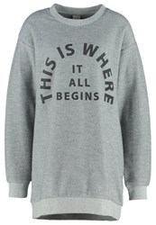 Bench Arrangement Sweatshirt Mid Grey Marl Mottled Grey