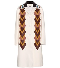 Miu Miu Leather Coat White