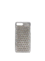 Christian Louboutin Loubiphone Metallic Leather Iphone 7 And 8 Case Silver