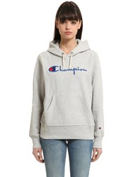 Champion Hooded Cotton Terrycloth Sweatshirt