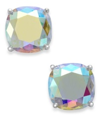 Kate Spade New York Silver Tone Faceted Abalone Square Stud Earrings