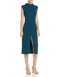 Betsey Johnson Scuba Crepe Midi Dress Pine
